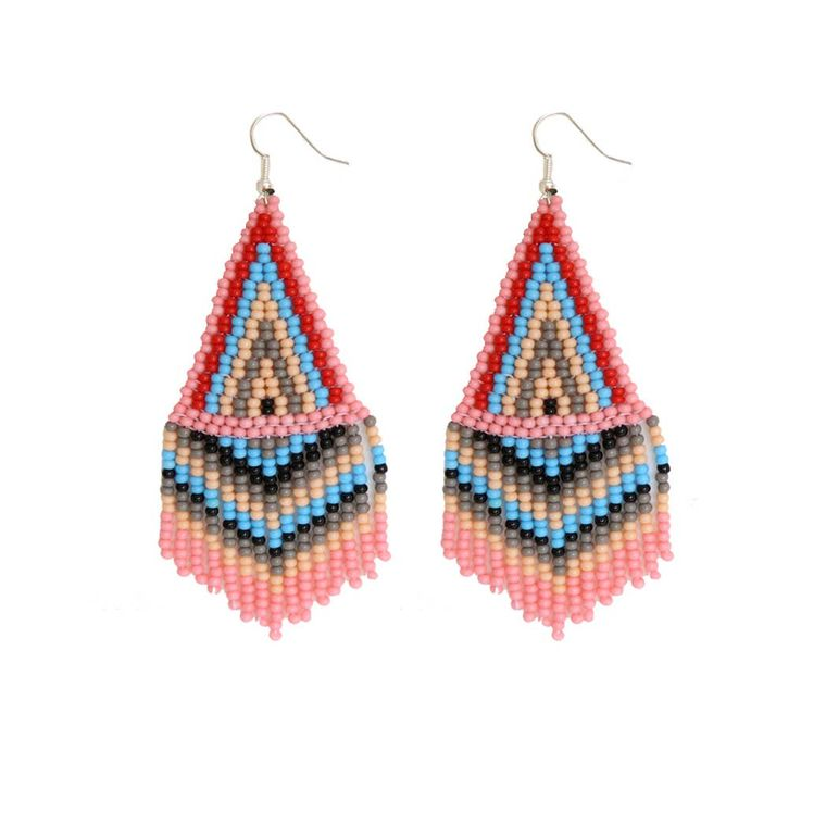 Bubble Gum Beaded Earrings