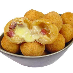 Bolinha de queijo com bacon Cheese and Bacon Pizza Pocket Brazil Cakes Toronto