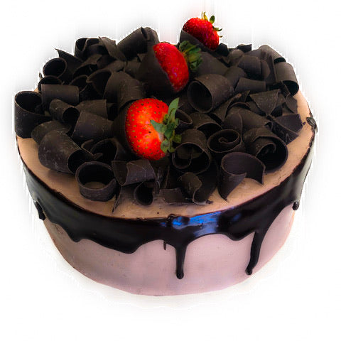Belgian chocolate cake with strawberry