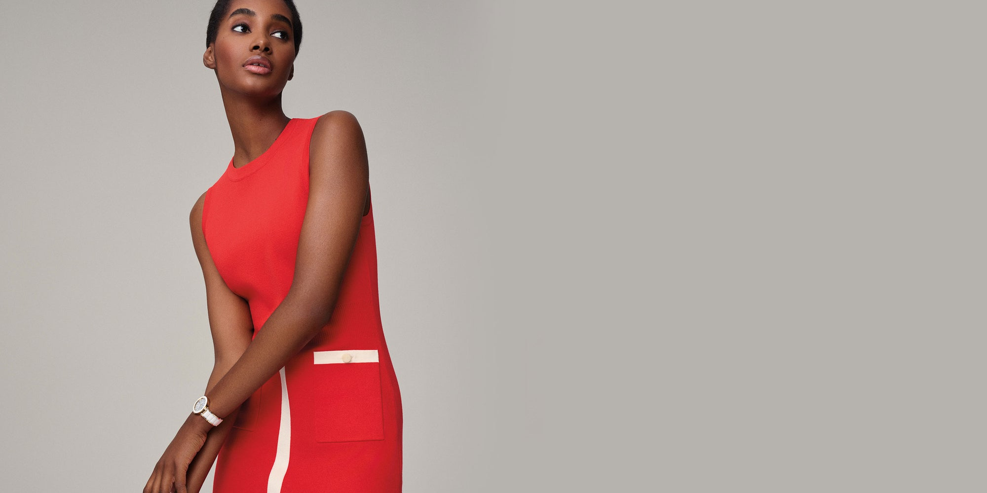 Anne Klein Poppy Red Collection on model
