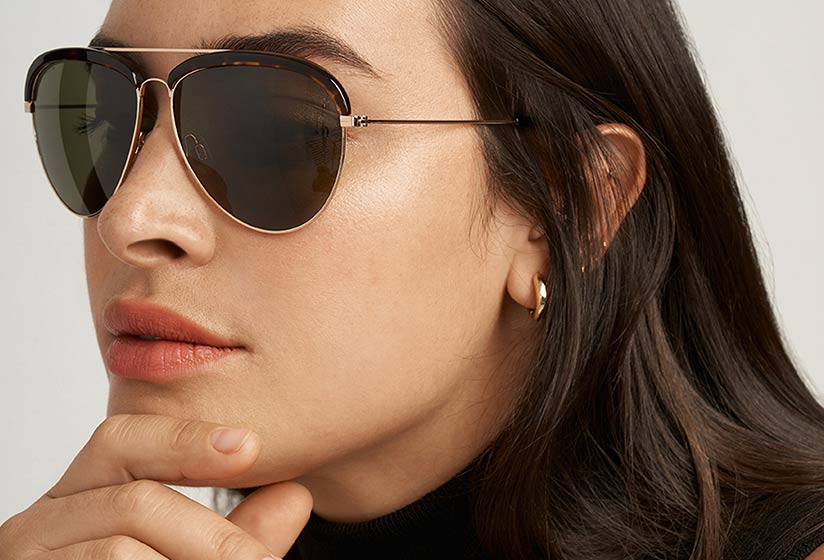 Anne Klein Sunglasses on model