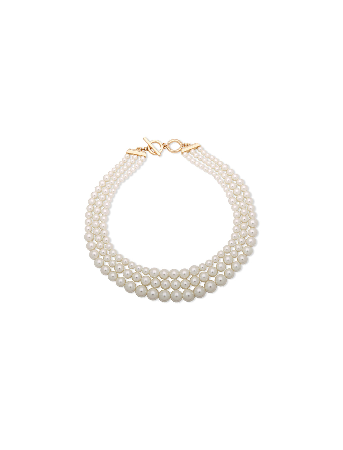 Multi Row Pearl Collar Necklace