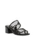 Anne Klein Bella Two Band Slip On Block Heel Sandal in Black
