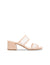 Anne Klein Bella Two Band Slip On Block Heel Sandal in Nude