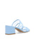Anne Klein Bella Two Band Slip On Block Heel Sandal in Sky Blue