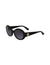 Black Vintage Round Sunglasses