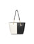 Color Block Chain Tote Bag