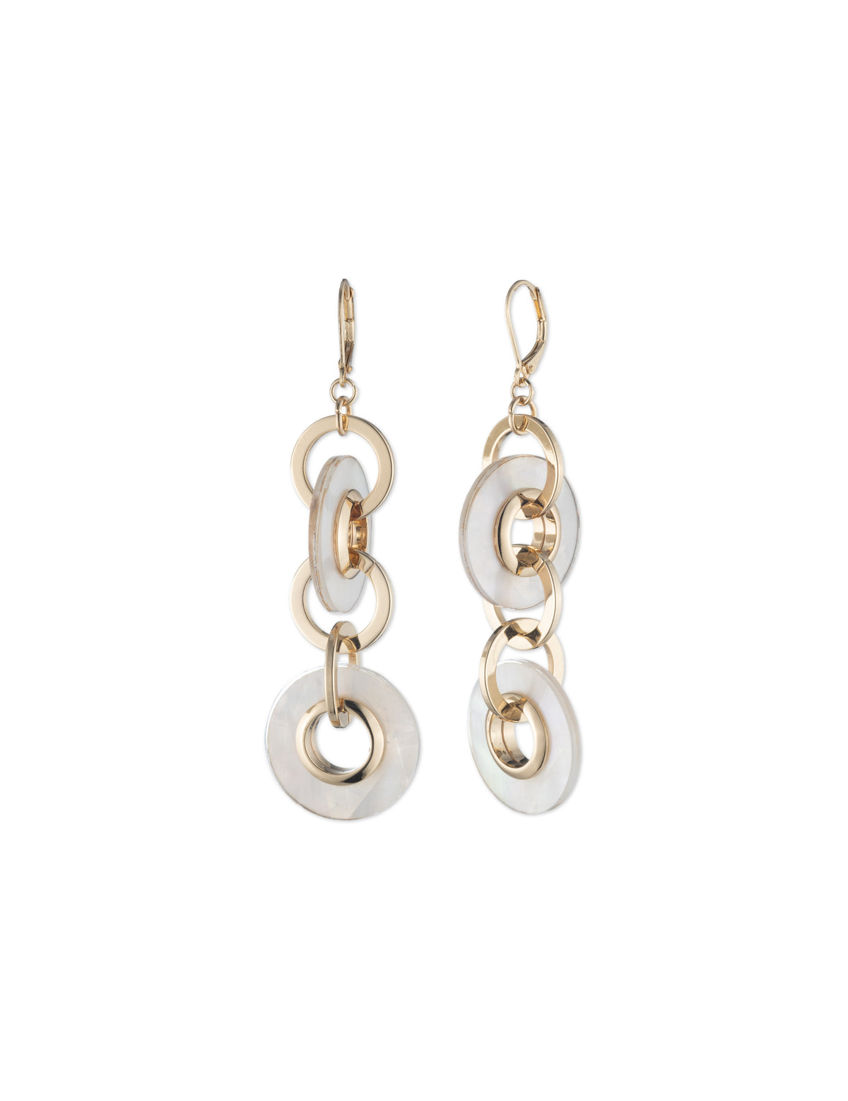 Drama Interlock Ring Earrings
