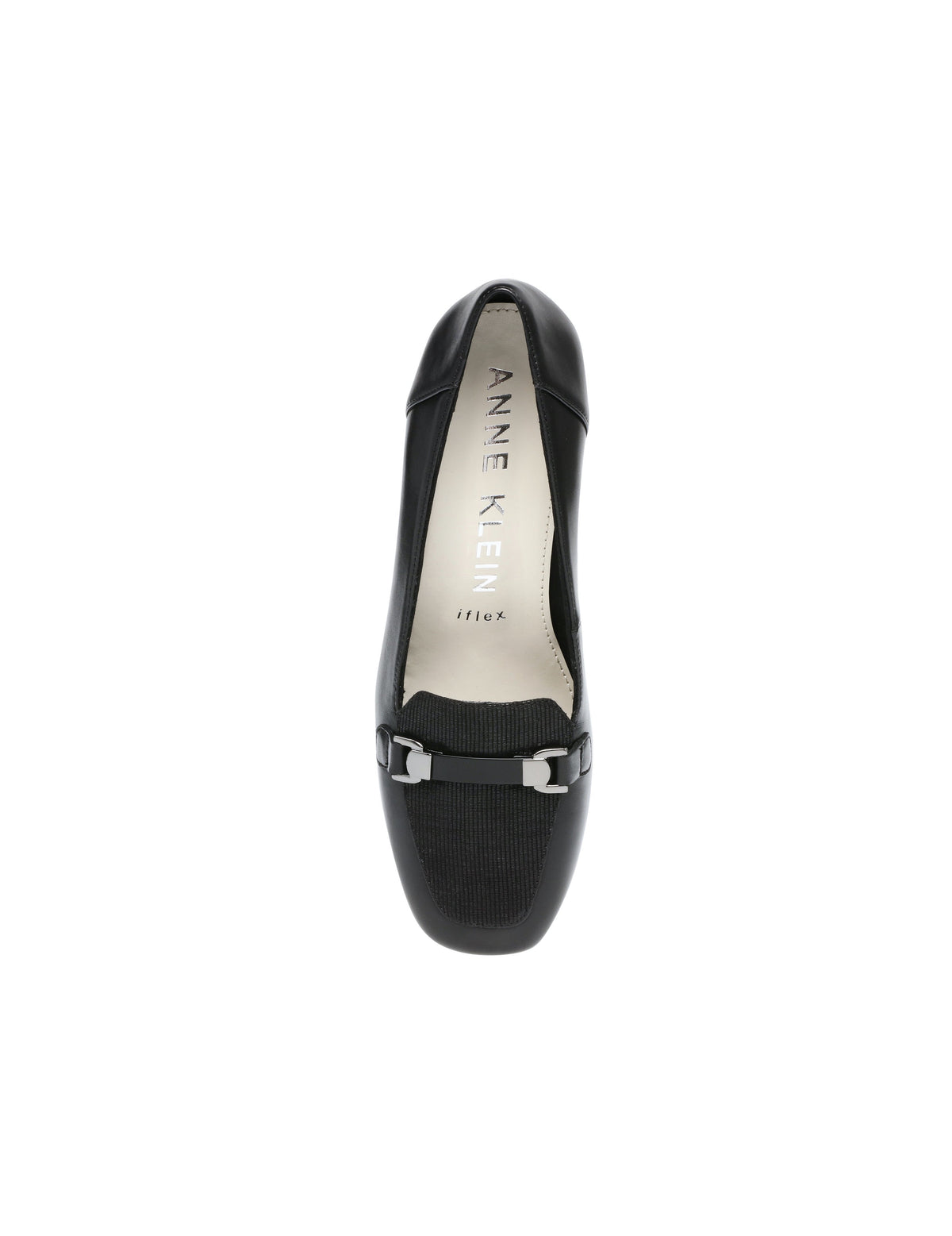 Anne Klein Evera Heels Black Leather Pumps