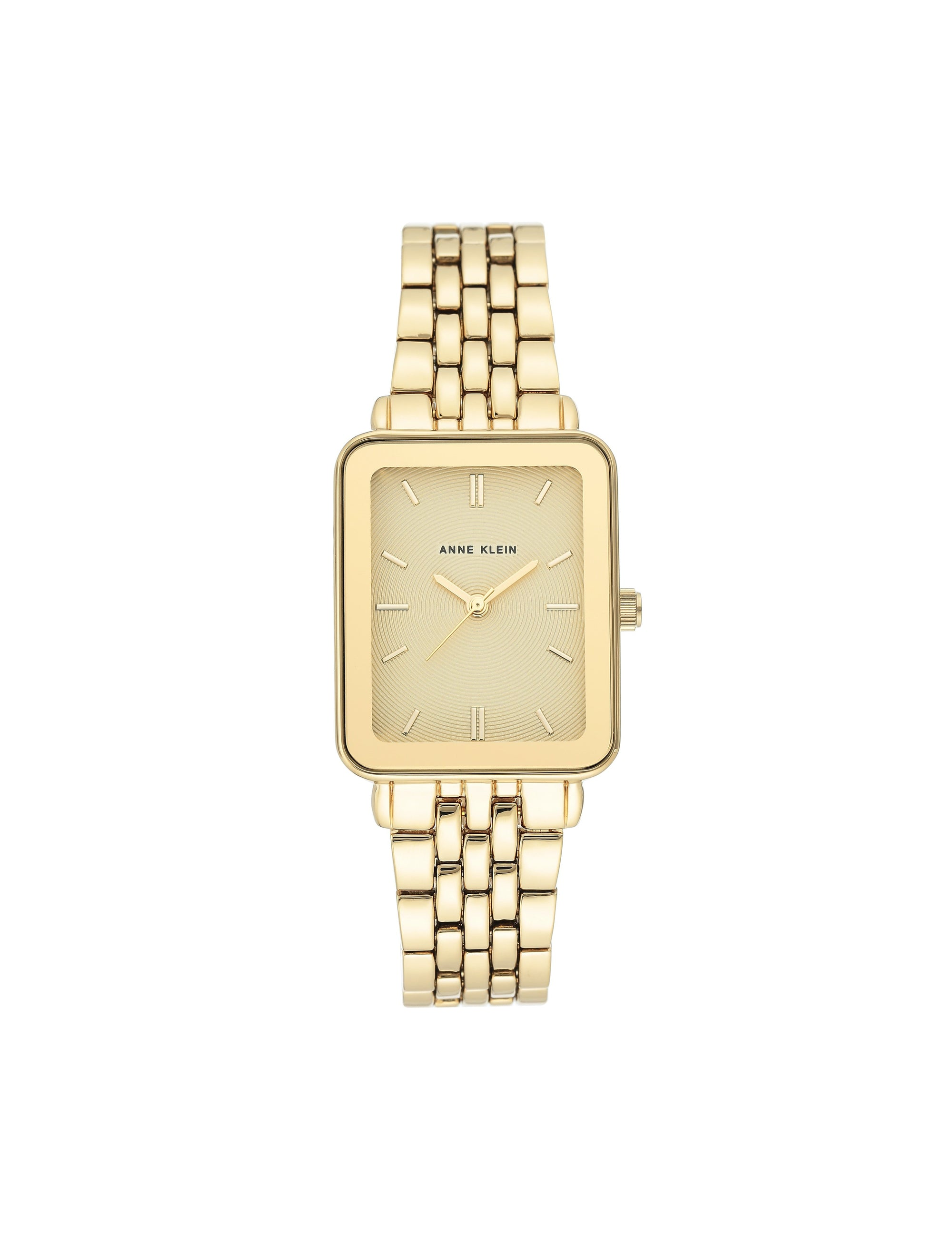 Gold Tone Bracelet Watch Rectangular Case