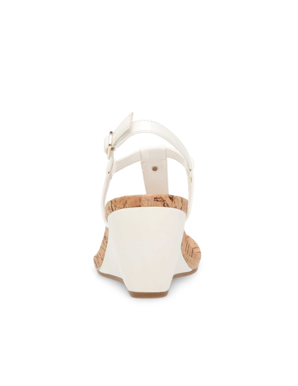 Italia Patent Wedge Sandals