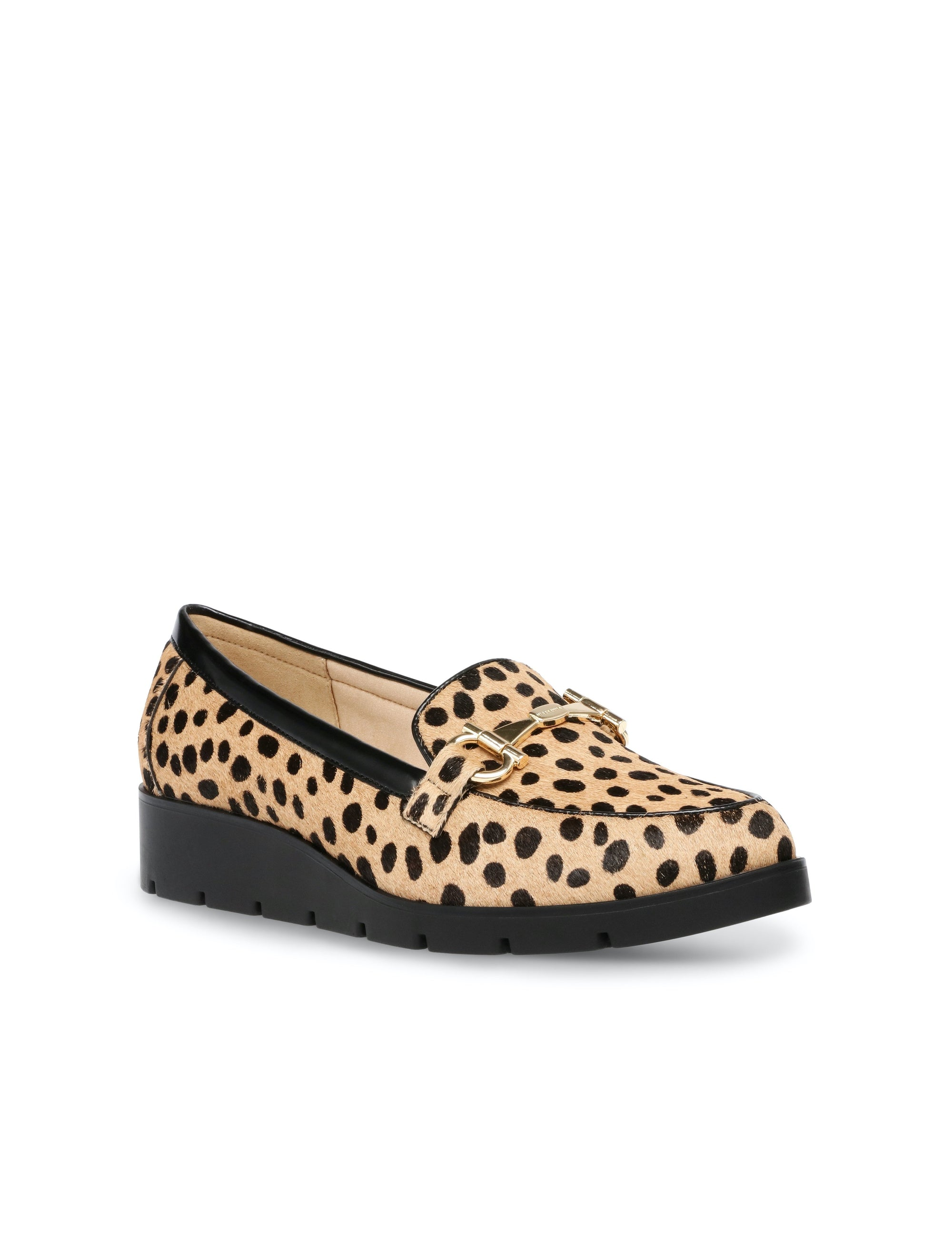 Anne Klein Lalita Loafers Leopard Calf Hair