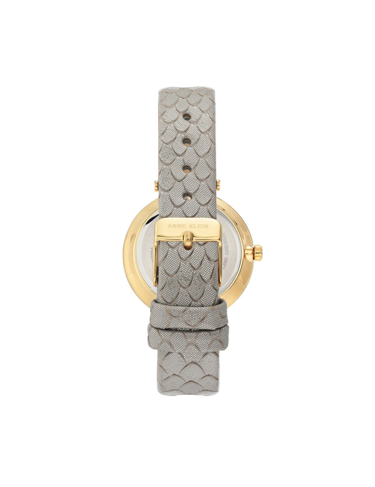 Patterned Leather Strap Watch