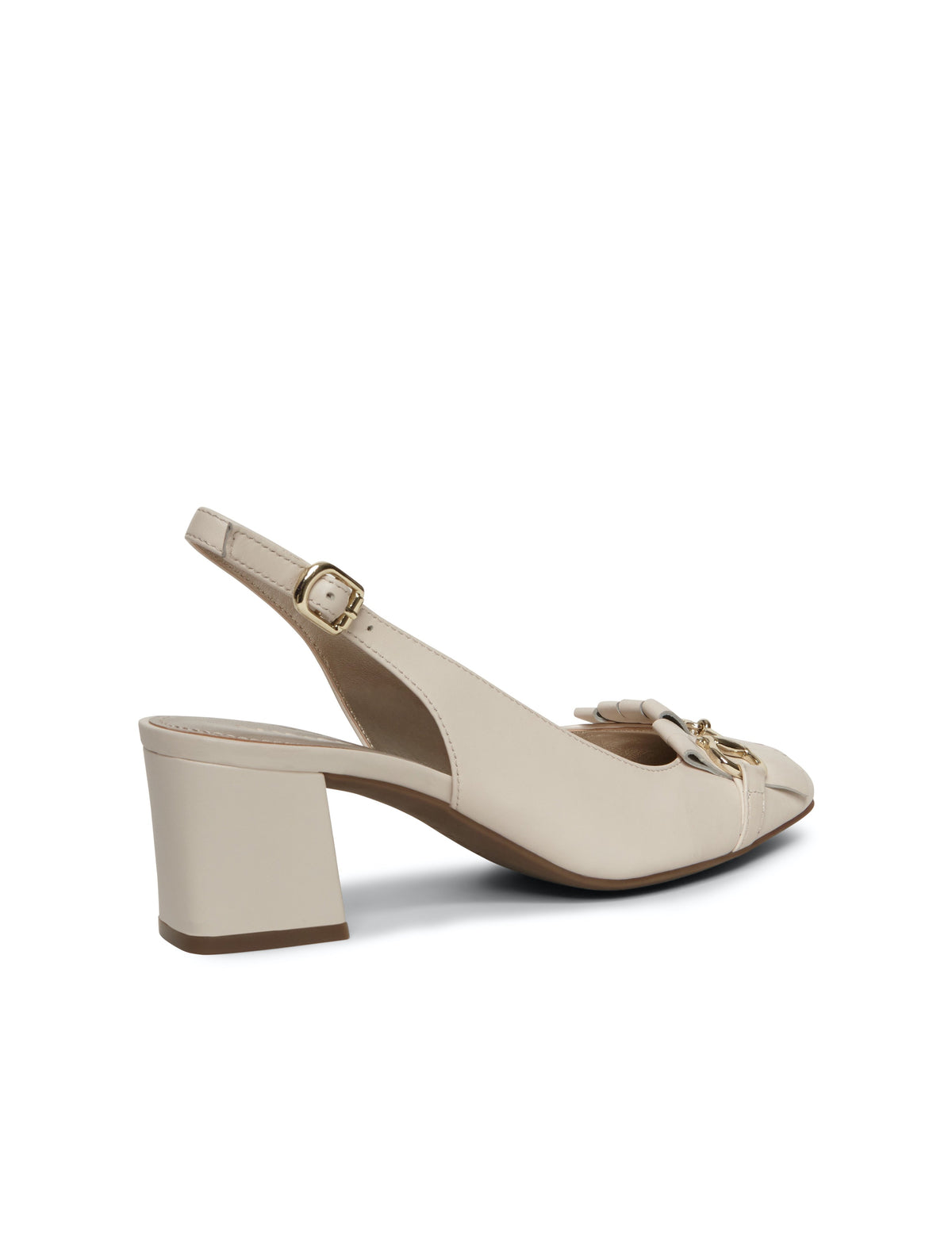 Anne Klein Peyton Leather Pumps Off White