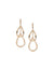 Double Drop Gold-Tone Earrings
