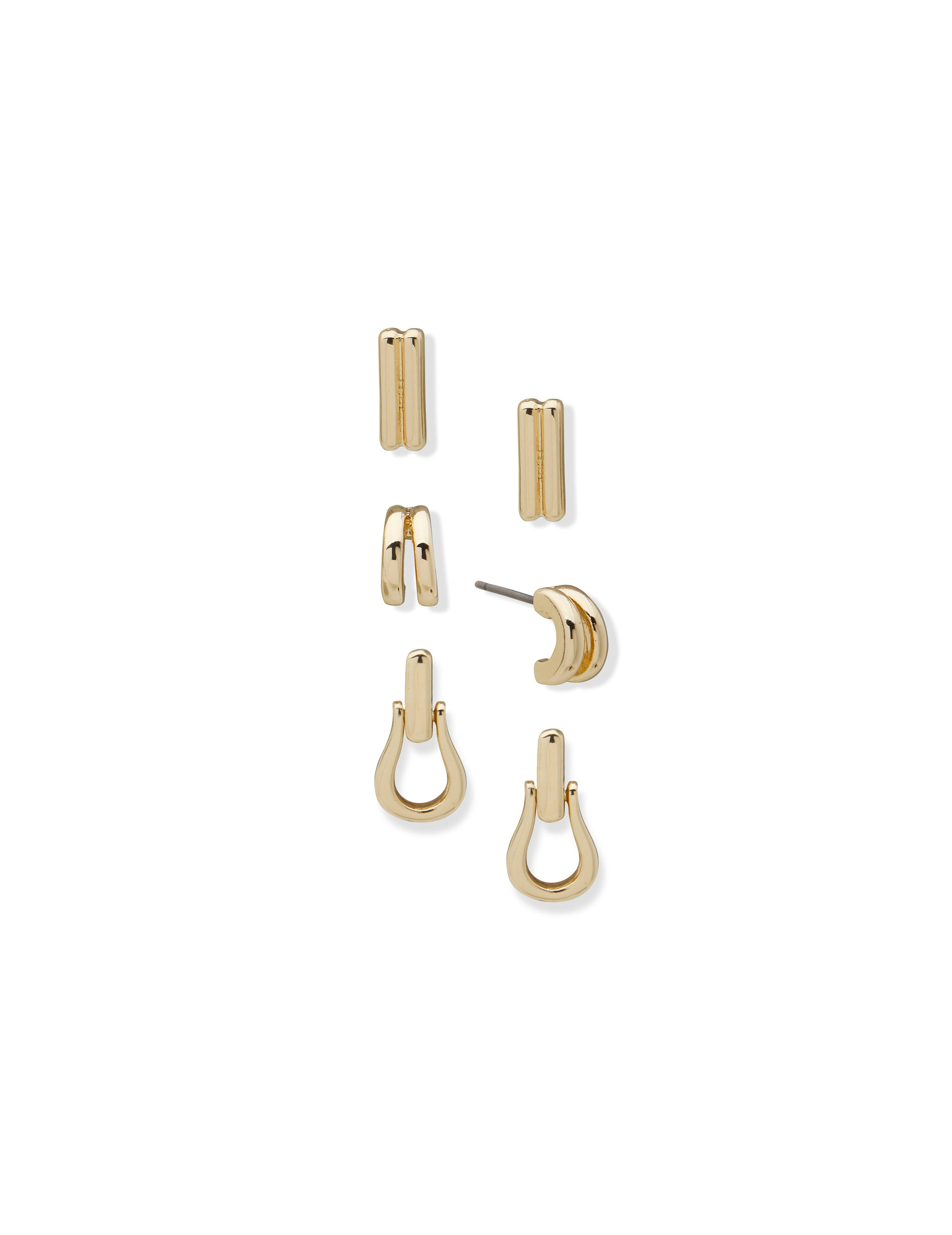 Pierced Earring Gold Set