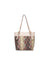Neutral Snake Print Pocket Tote Bag