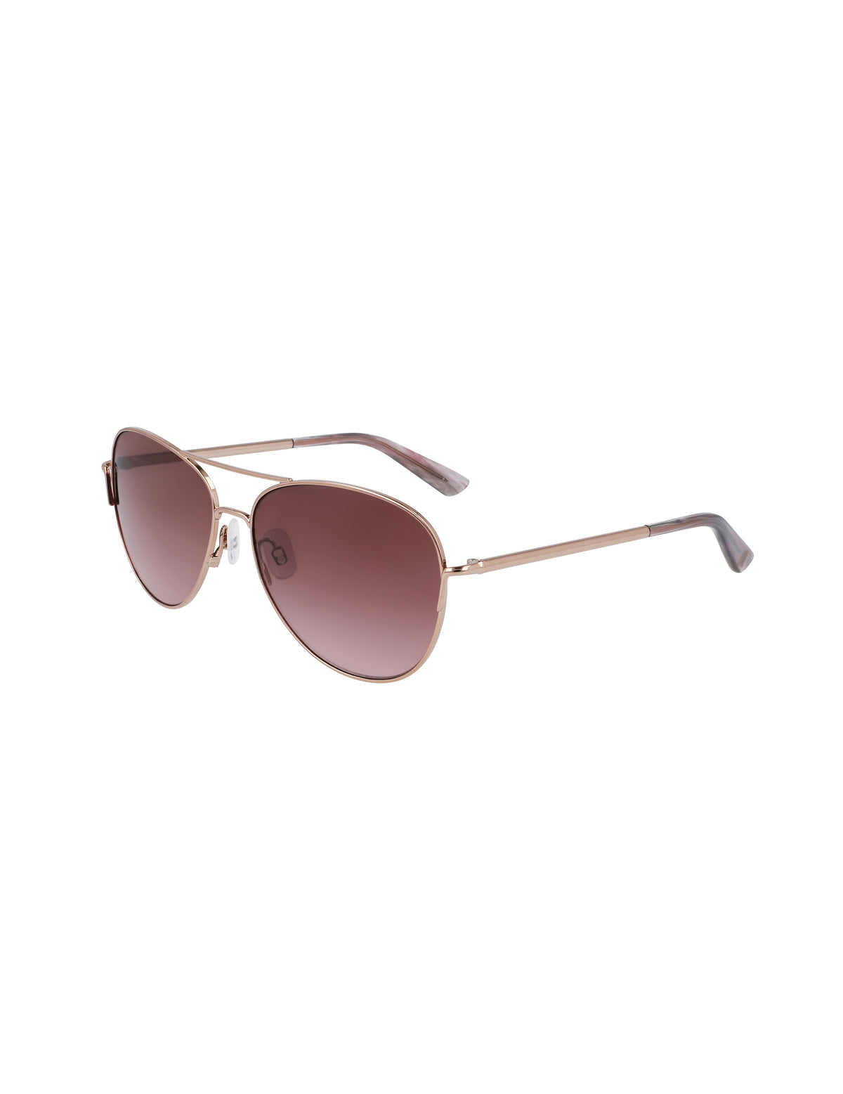 Rose Gold Tone Classic Aviator Sunglasses