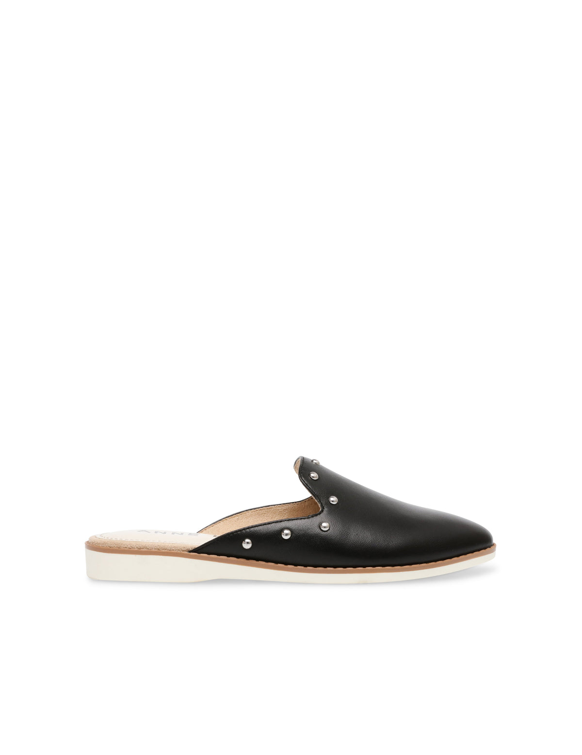 Anne Klein Shea Faux Leather Slip On Mule in Black