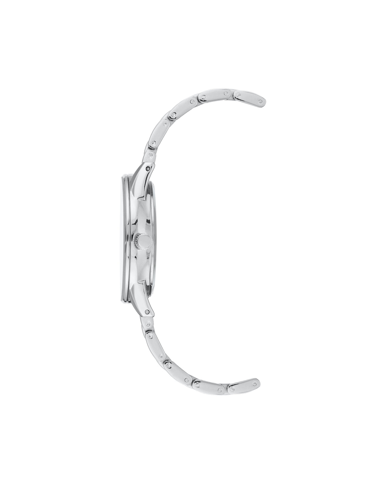 Silver White Bracelet Watch Metalized Ring