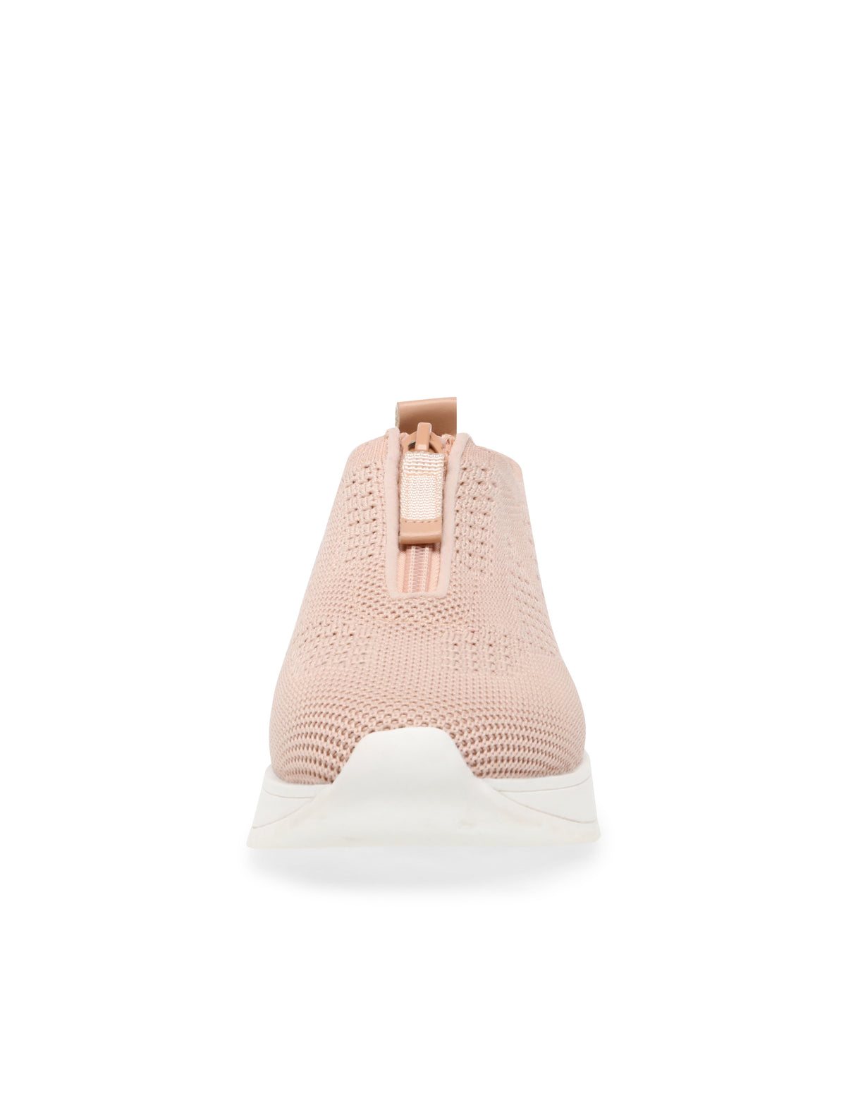Anne Klein Terri Zip Front Knit Sneaker in Blush