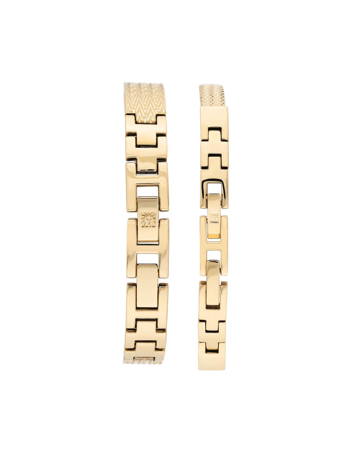 Textured Bangle Swarovski Watch and Bracelet Set