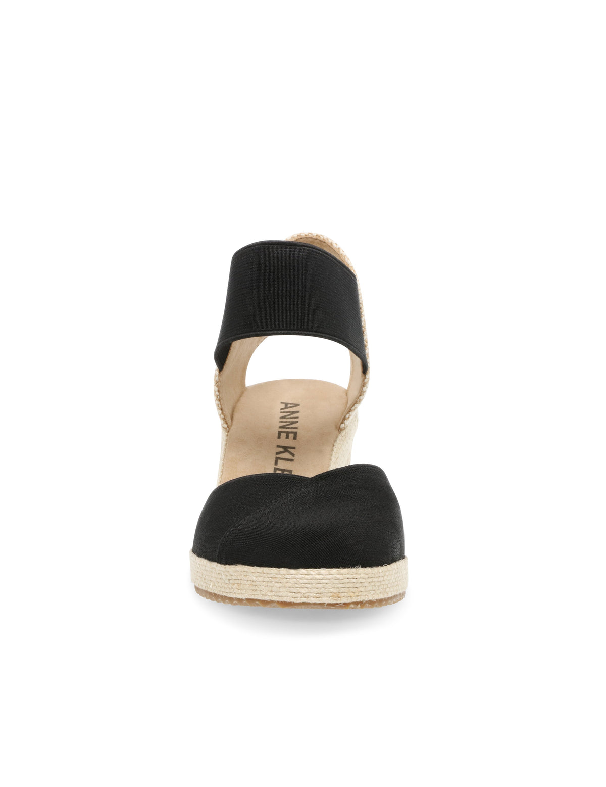Anne Klein Zoey Round Toe Espadrille Wedge in Black