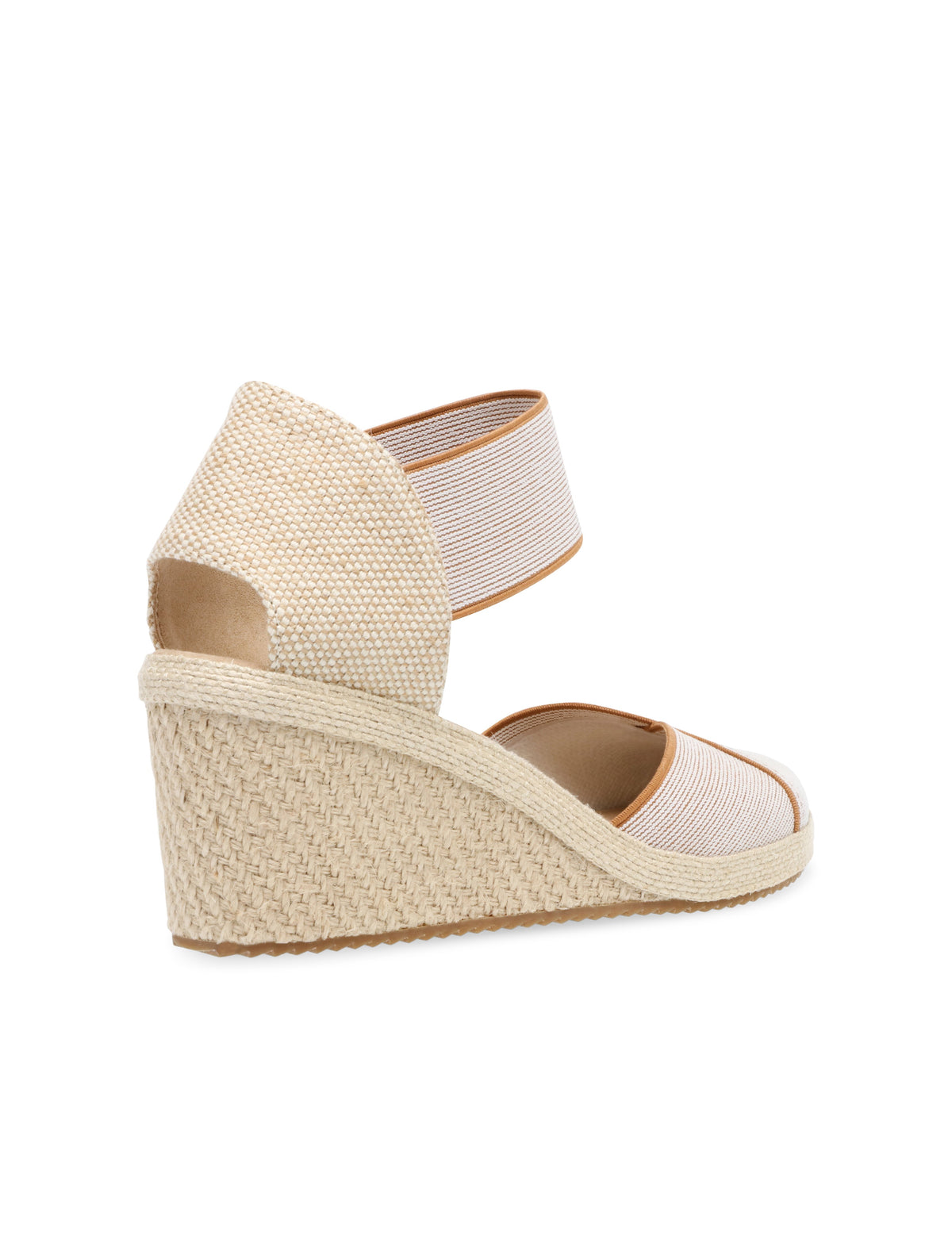 Anne Klein Zoey Round Toe Espadrille Wedge in Natural