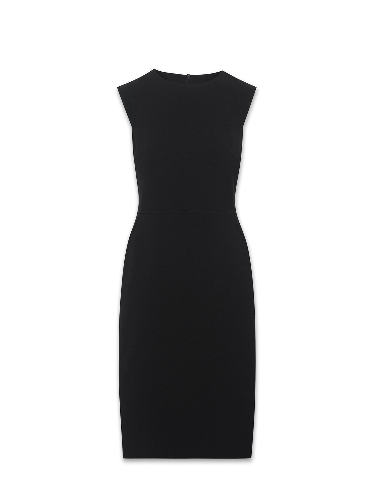 Anne Klein Black Sheath Dress With Extended Shoulder Sleeves
