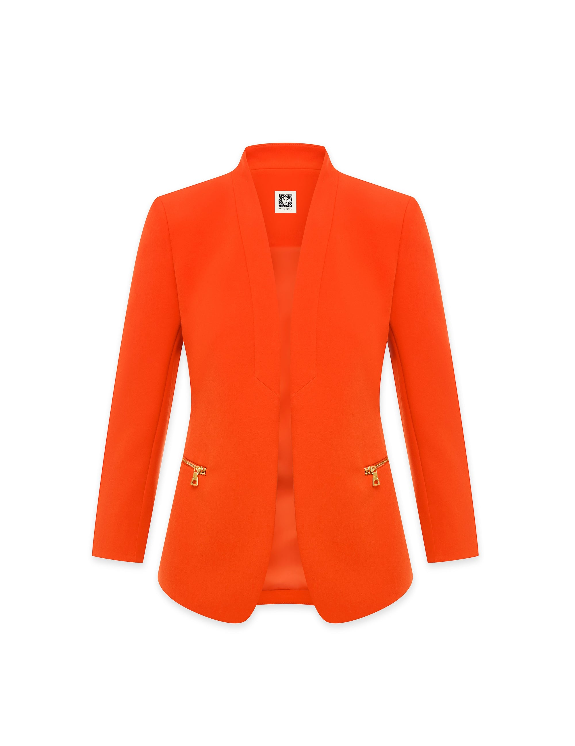 Anne Klein Anne Stretch Zipper Pocket Jacket Poppy