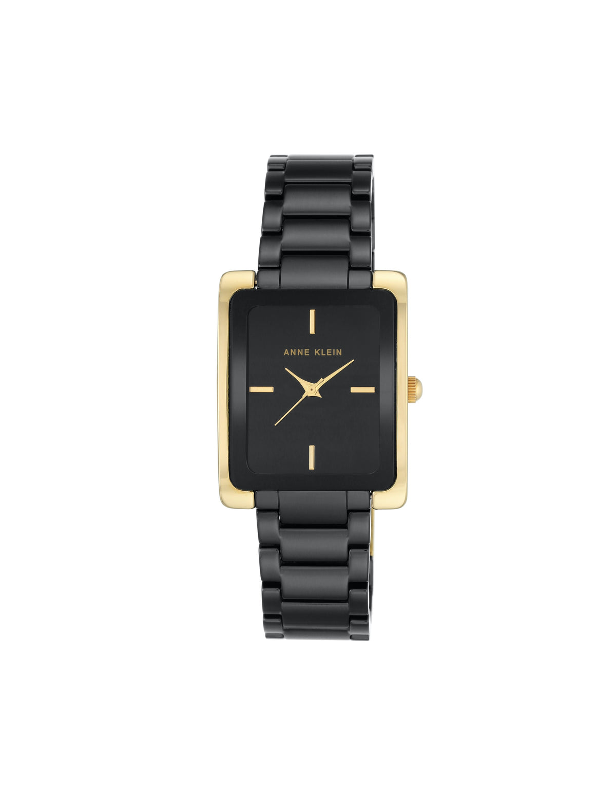 black gold ceramic bracelet watch rectangular case