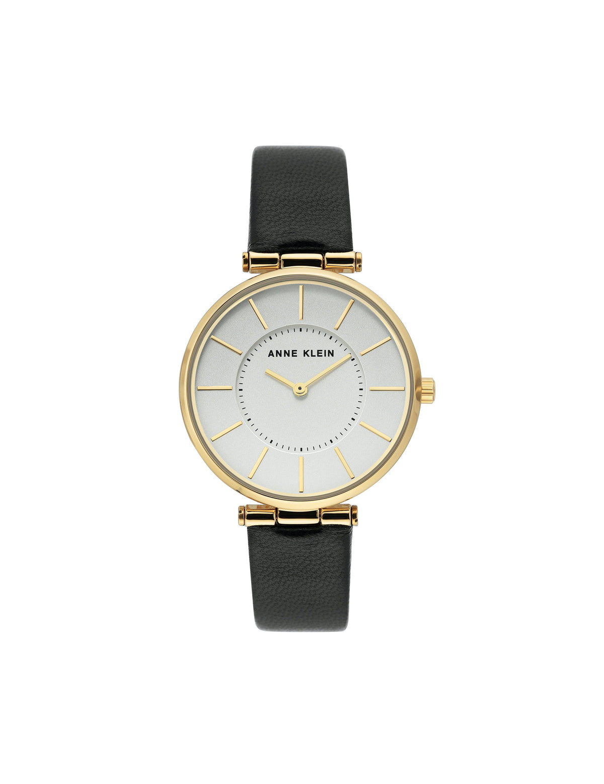 black gold leather strap watch