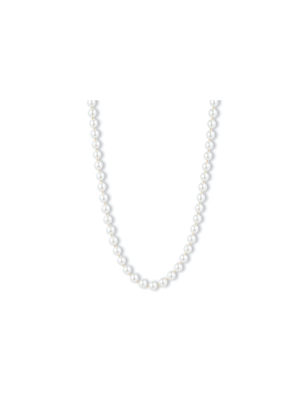 blanc pearl collar necklace