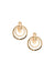 Gold-Tone Orbital Clip Earrings