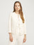 Anne Klein Pearl Button Collarless Jacket Anne White Combo