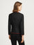 Anne Klein Black Collarless Jacket With Braided Trim