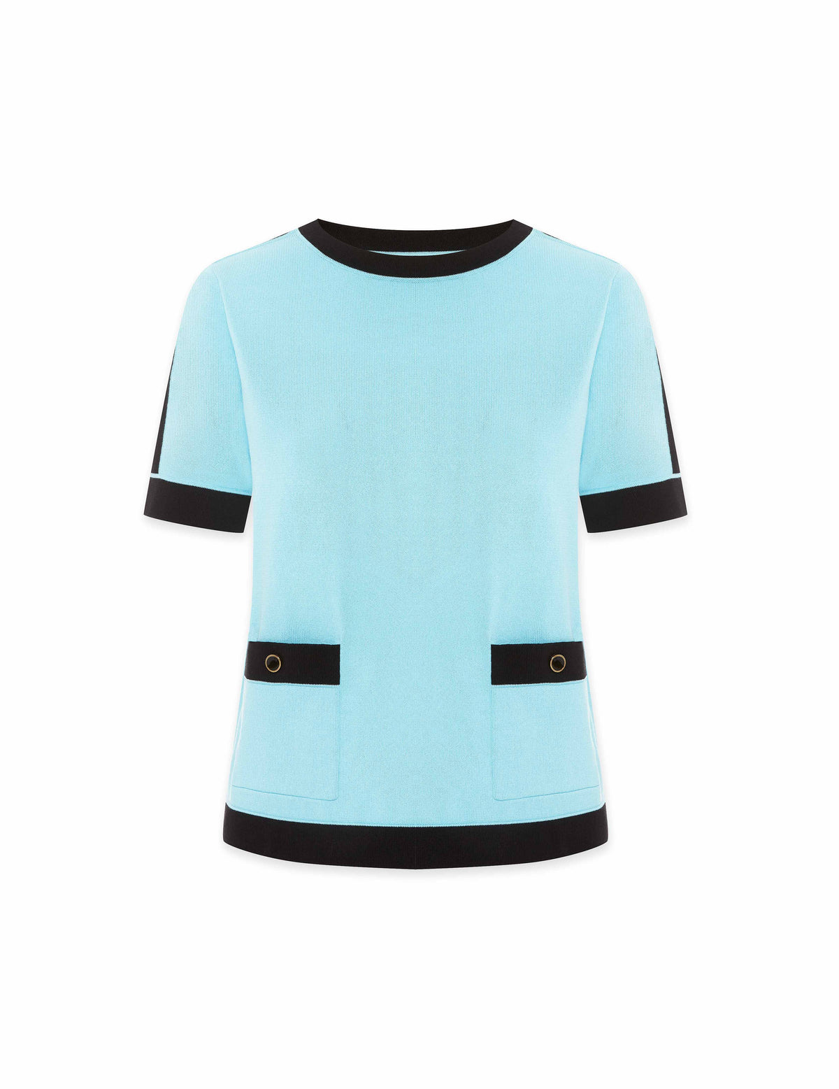 Color Block Patch Pocket Top