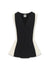 Anne Klein Black/White V-Neck Colorblock Tank