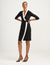 Anne Klein Black White City Wrap Dress