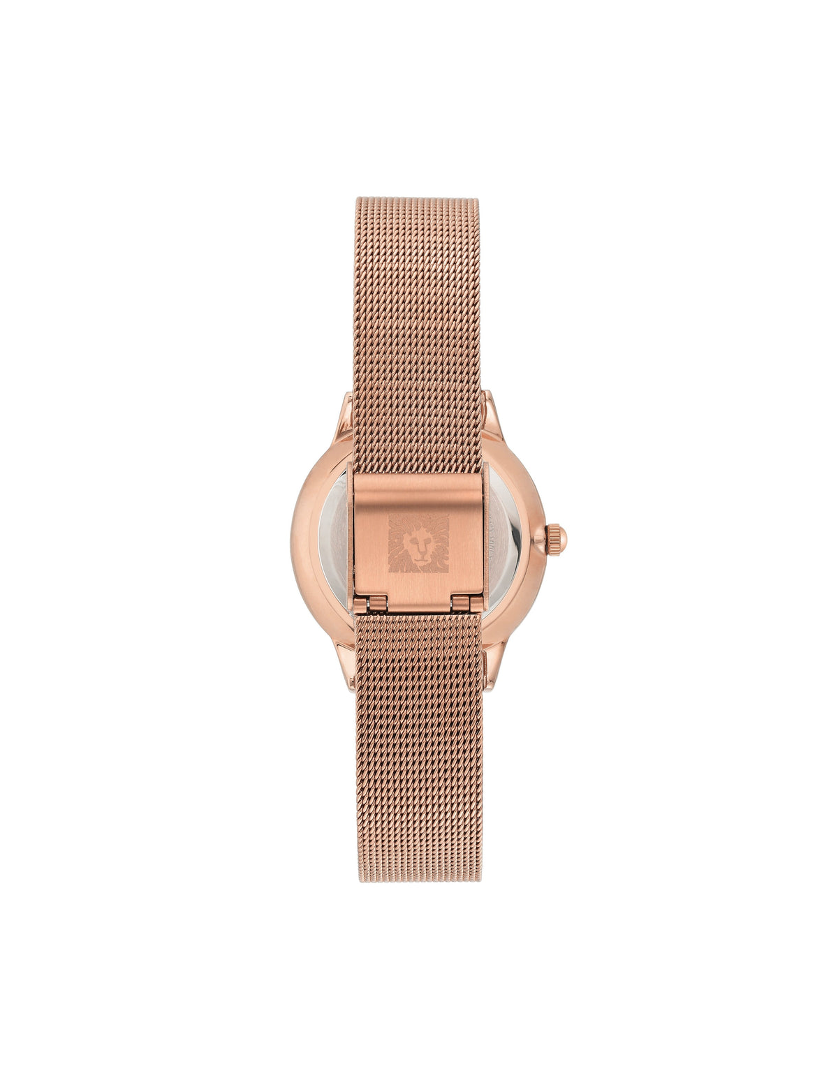 considered solar powered swarovski crystal accented rose gold green mesh bracelet watch