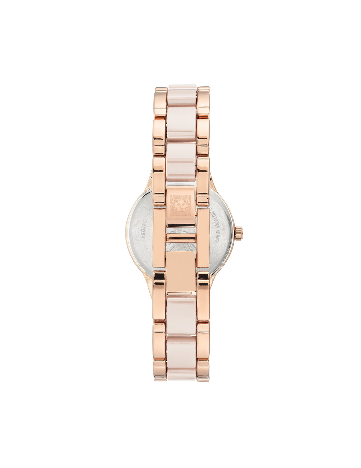 considered solar powered swarovski crystal accented rose gold-tone light pink ceramic bracelet watch