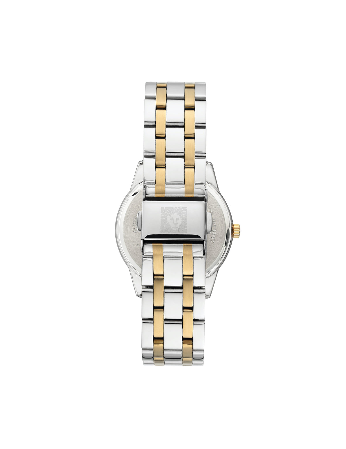 considered solar powered two tone swarovski crystal accented mother of pearl dial bracelet watch
