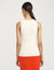 Anne Klein Crewneck Sleeveless Sweater Shell Anne White