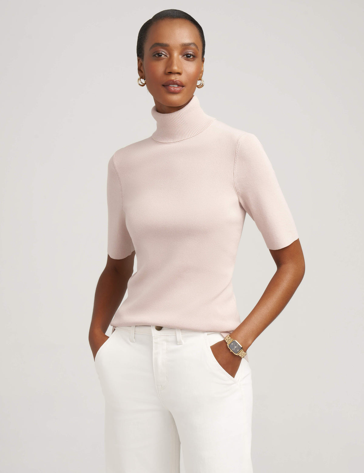 Anne Klein Ballet Elbow Sleeve Turtleneck
