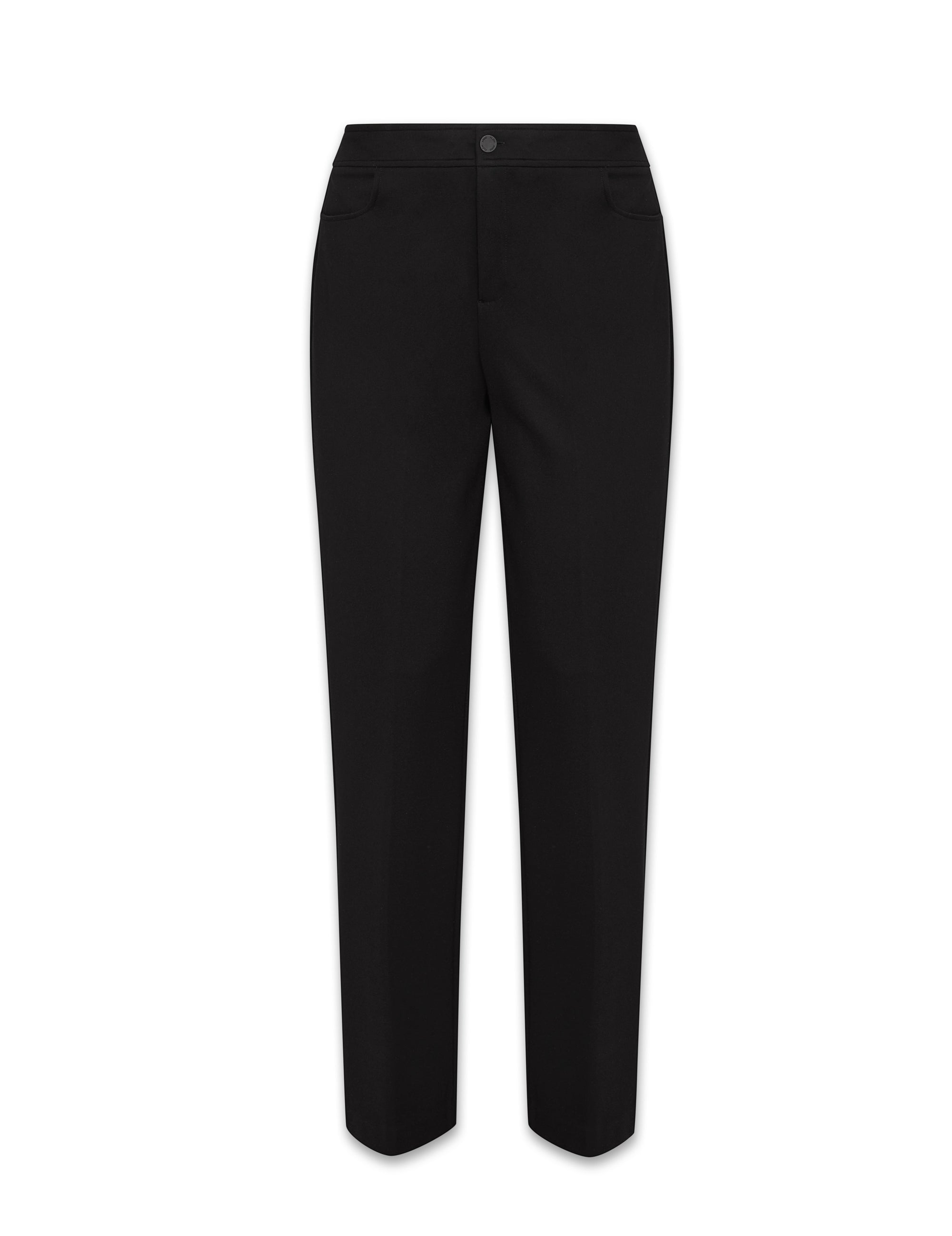 Anne Klein Black Flare Leg Compression Pant