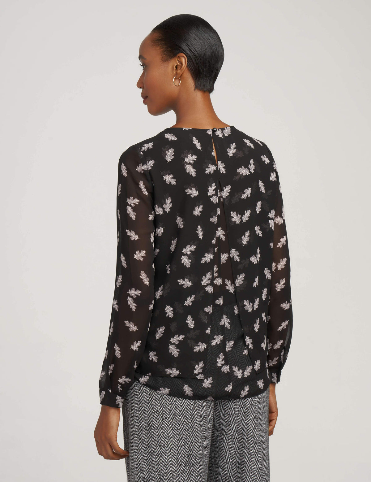 Floating Leaves Double Layer Blouse