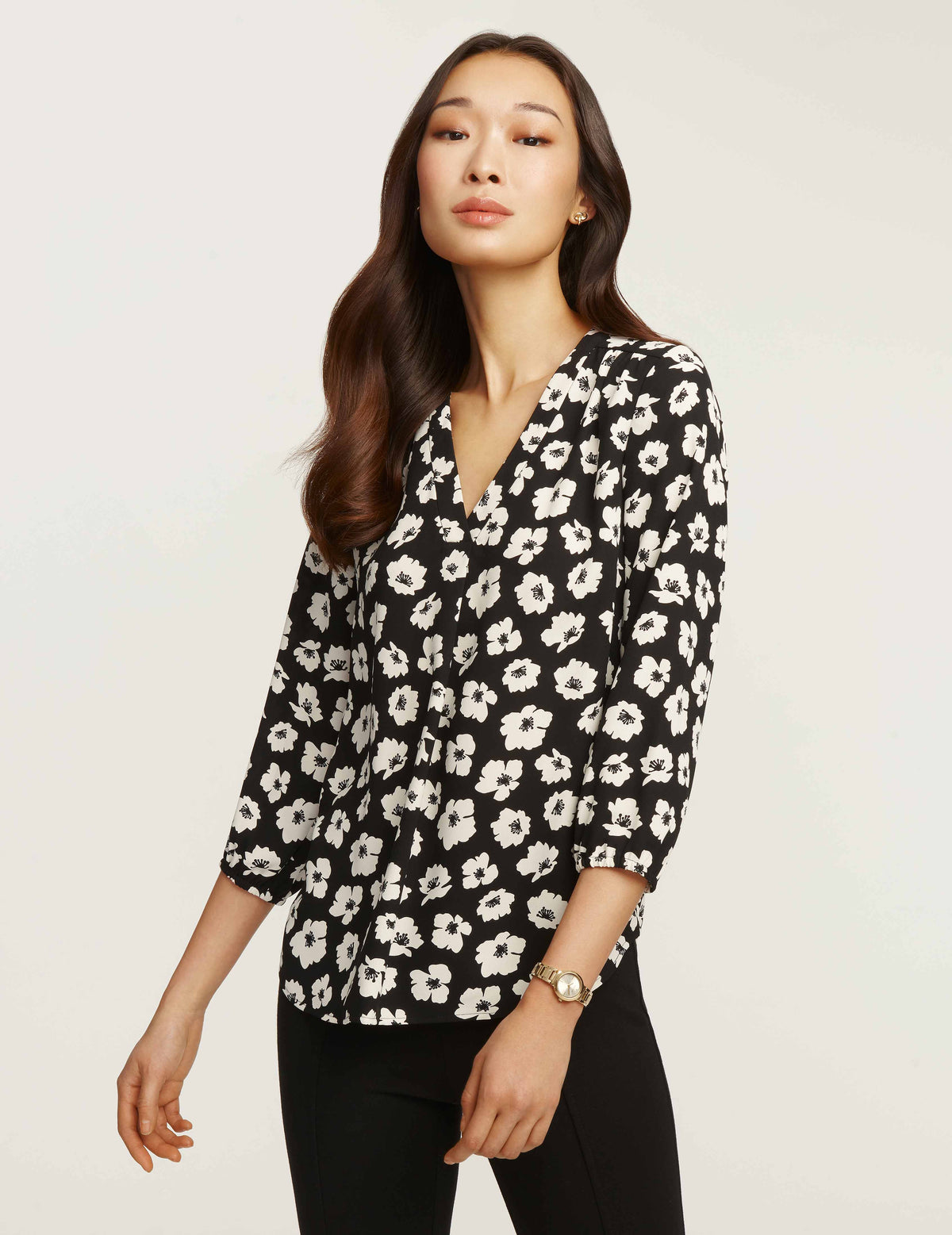 Giverny Floral V-Neck Blouse
