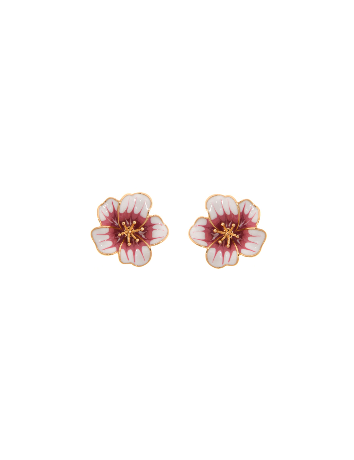 Gold-Tone Flower Earrings & Mask Set
