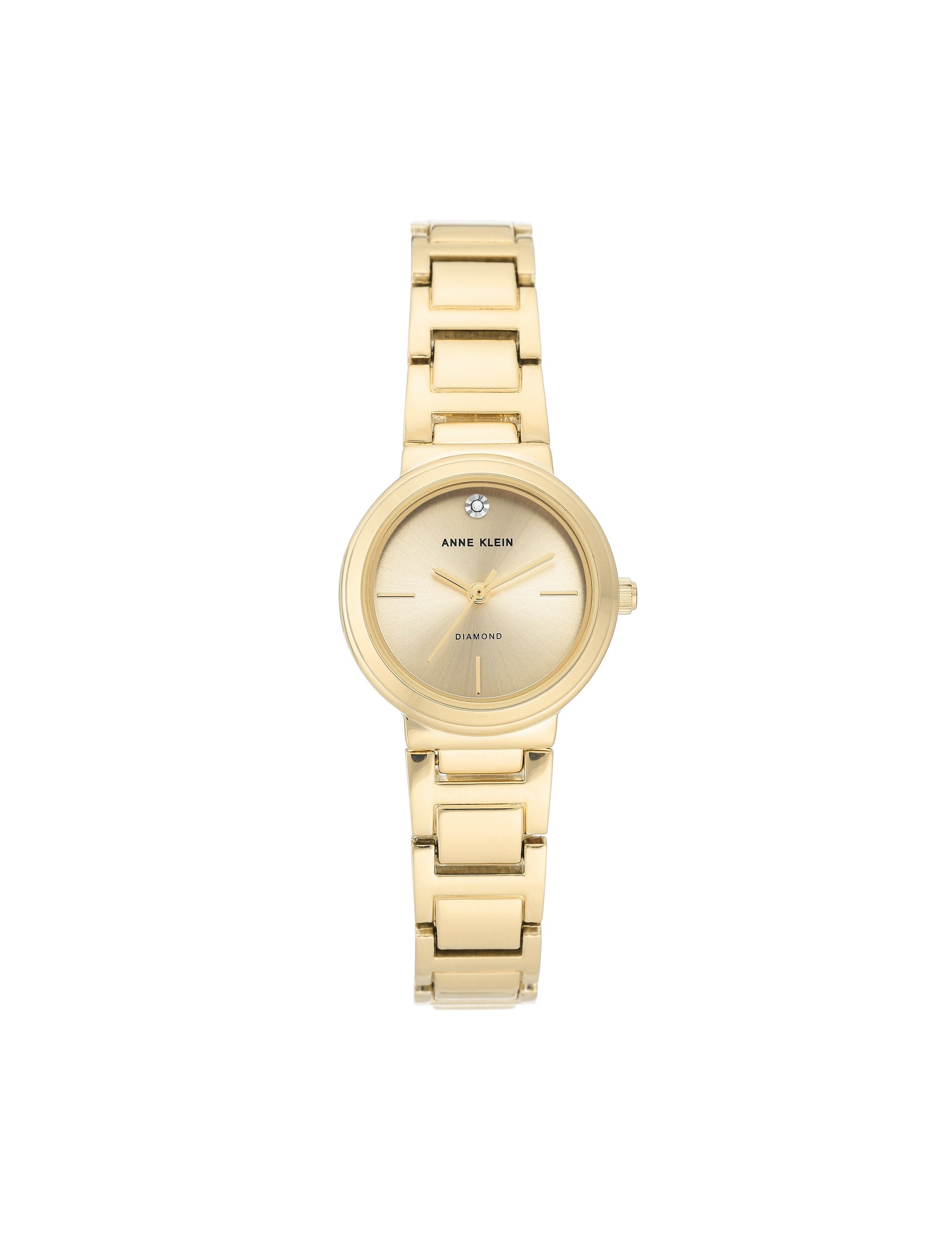 gold genuine diamond dial bracelet watch