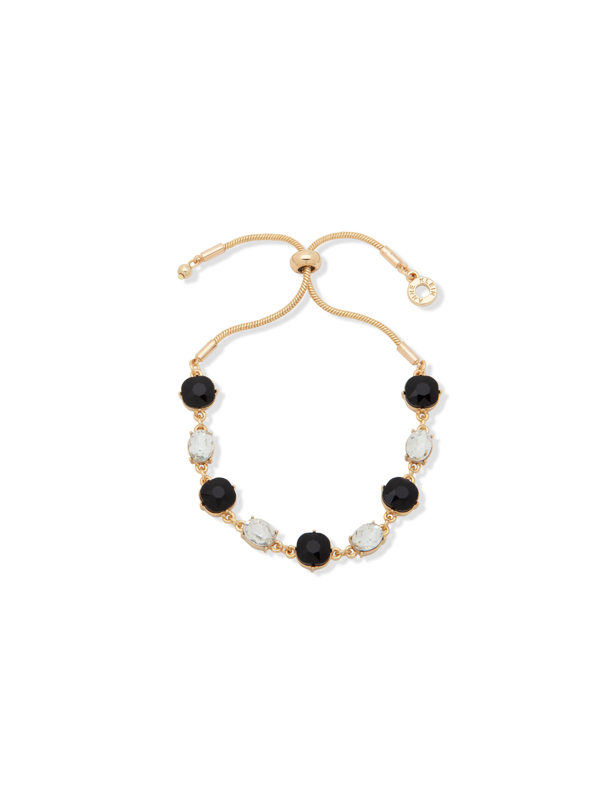 Gold-Tone Crystal Accent Bracelet